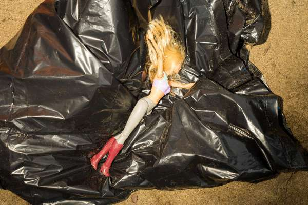 Bin liners as children's playthings (Image courtesy: San Fransisco Chronicle)